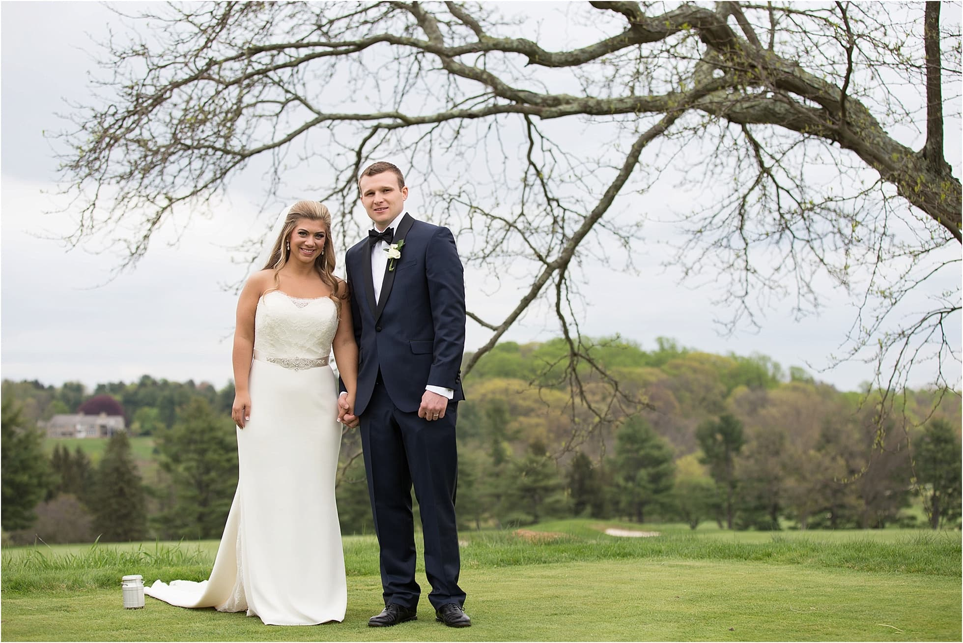 A White Manor Country Club Bride And Groom