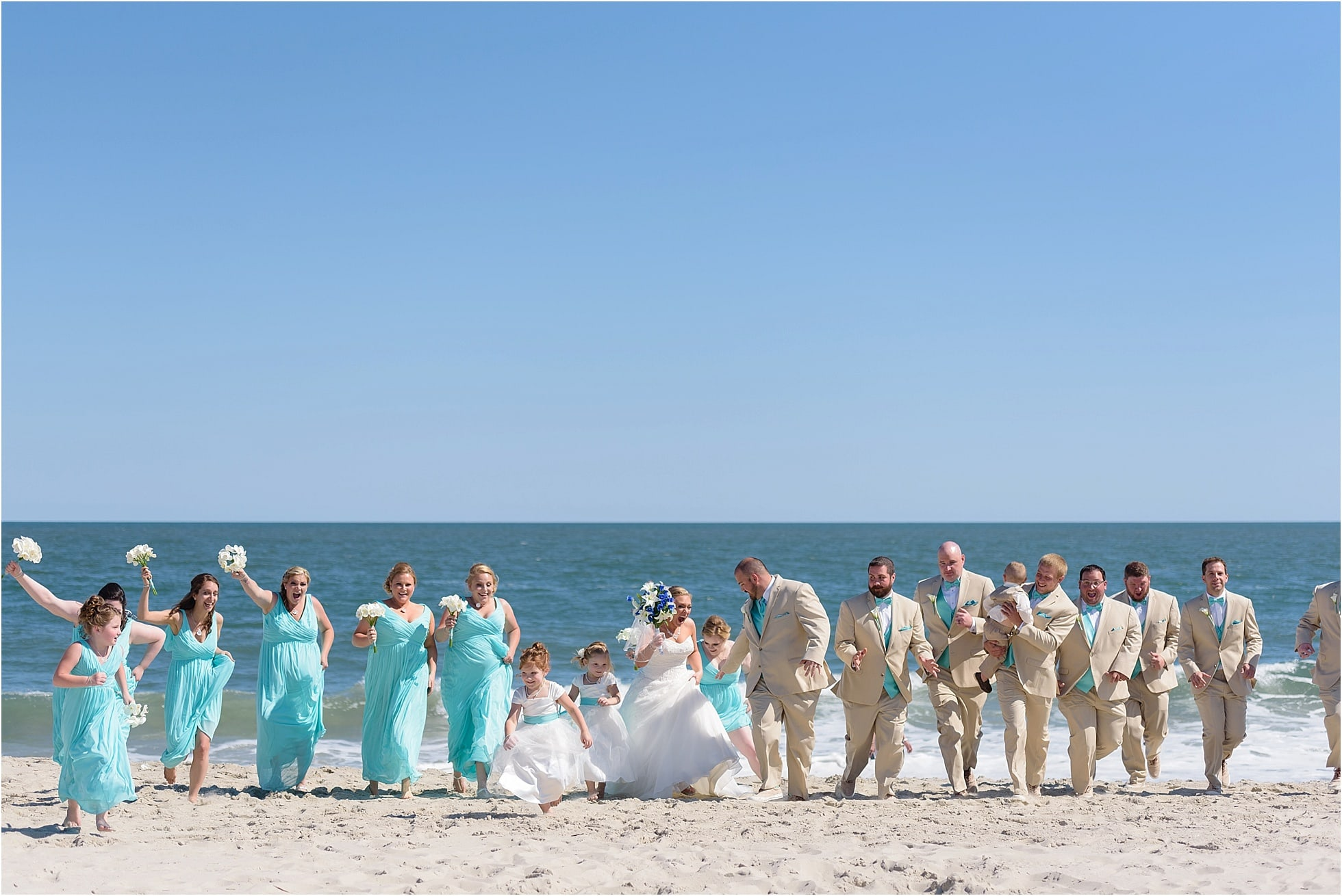 Funny Bridal Party Pictures At Cape May Beach Wedding