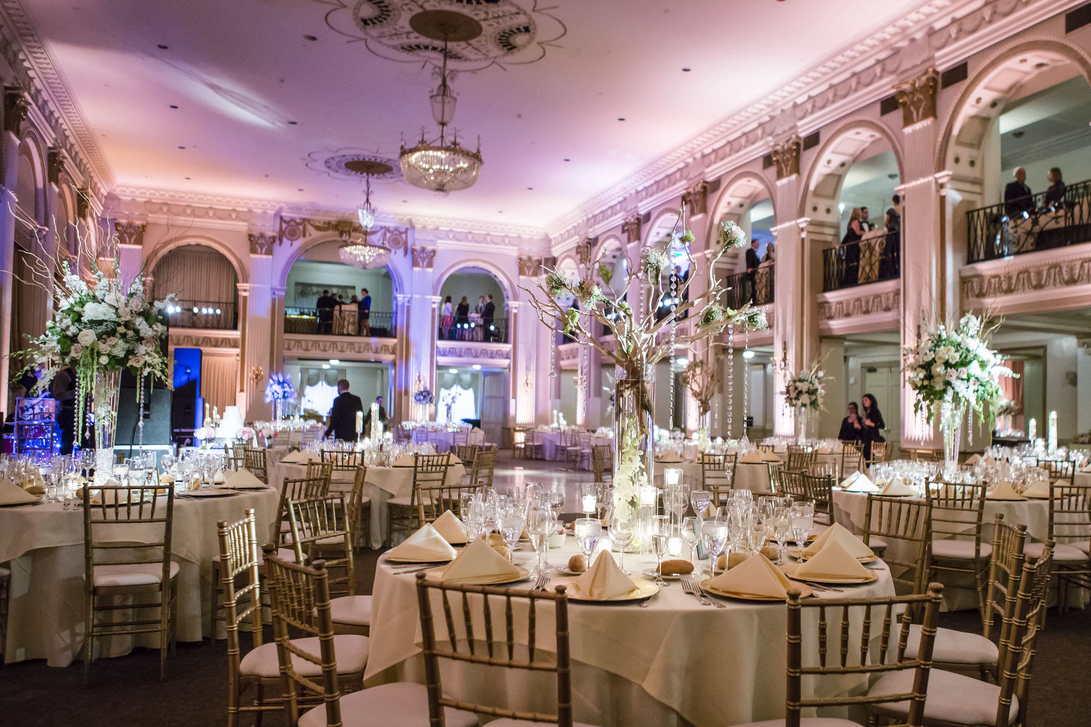 Our favorite philadelphia wedding venues ashley gerrity photography classic elegant ballroom wedding reception philadelphia junglespirit Images