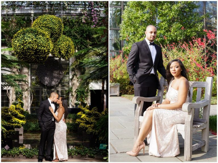 With formal attire during an engagement session, we love to take a few more classically posed engagement photos, such as this portrait.