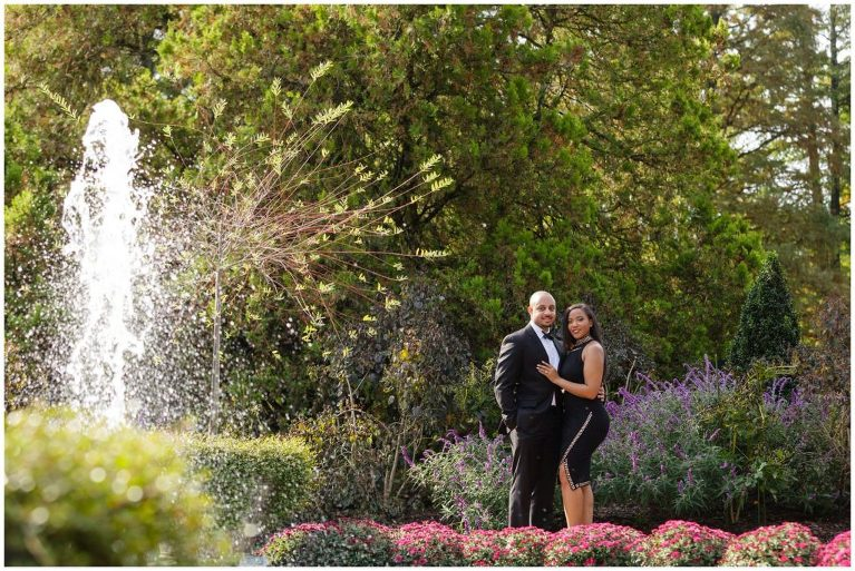 Alexandra brought a second outfit to her Longwood Gardens engagement session that matched Joey