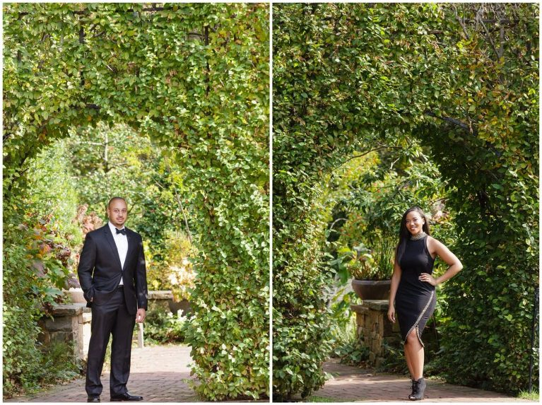 When a couple takes as much time as Alexandra & Joey to pull together their style for a Longwood Gardens engagement session, we always try to take at least one portrait of them individually.