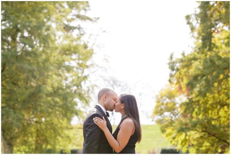 As we approached golden hour during their Longwood Gardens engagement session, we were able to capture this warm glowing portrait.