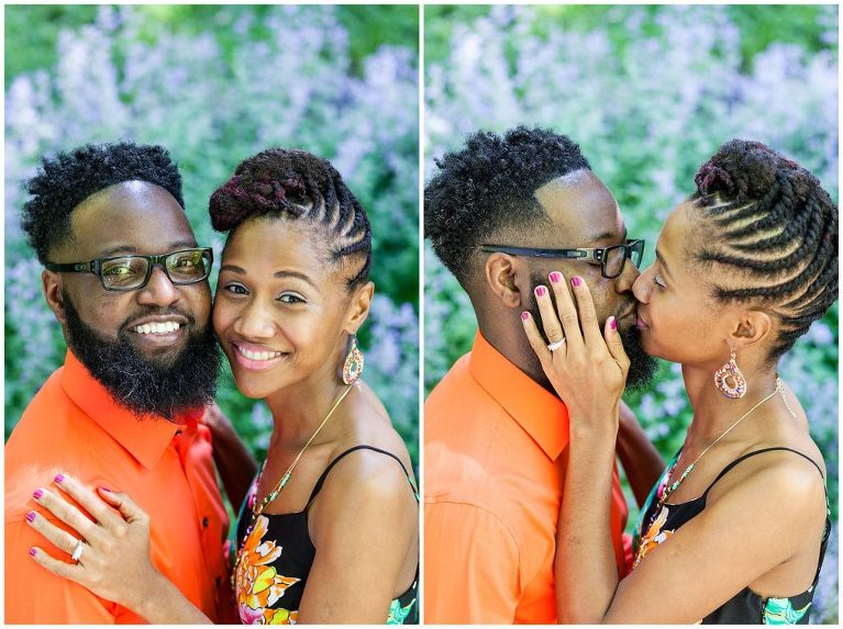 Intimate portraits during an art museum engagement session