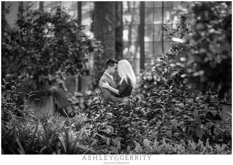 black and white, bw, garden engagement, engagement inspiration