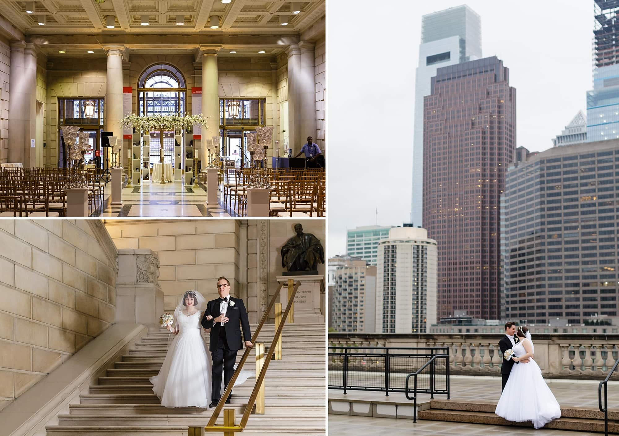 Philadelphia Wedding Venues Free Library Of Brûlée Catering Ceremony In Atrium