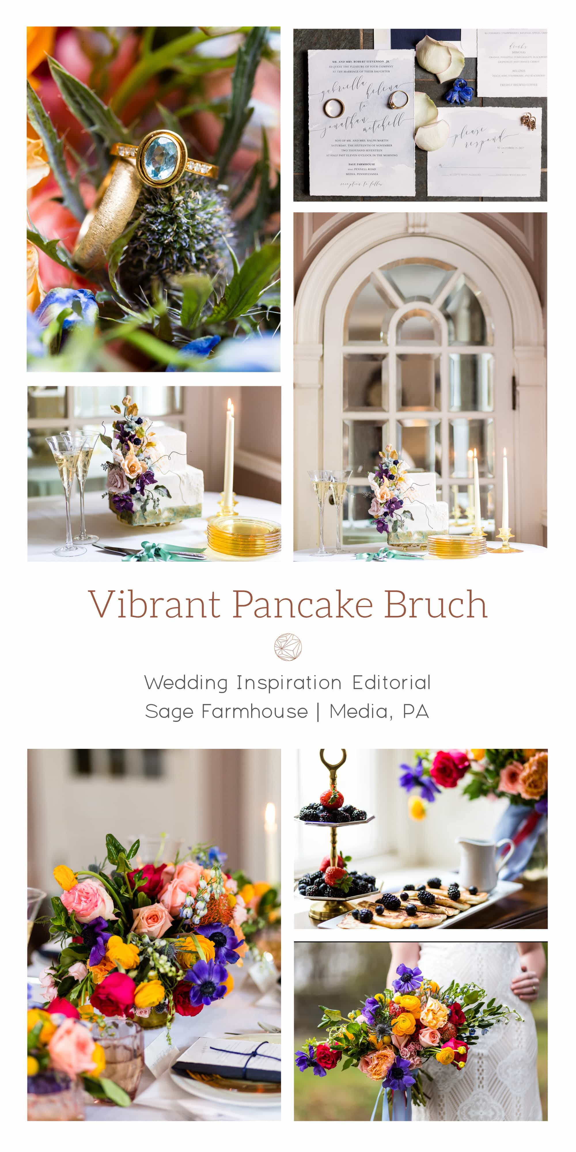 The Sage Farmhouse: A Colorful Brunch Wedding Inspiration Shoot