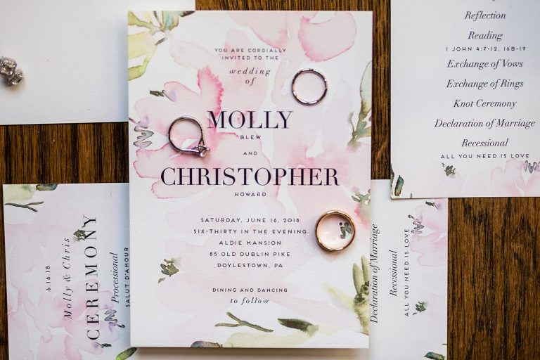 details, wedding invitation, pink and green, watercolor invitations, wedding invitation, wedding rings, engagement ring, gold wedding rings