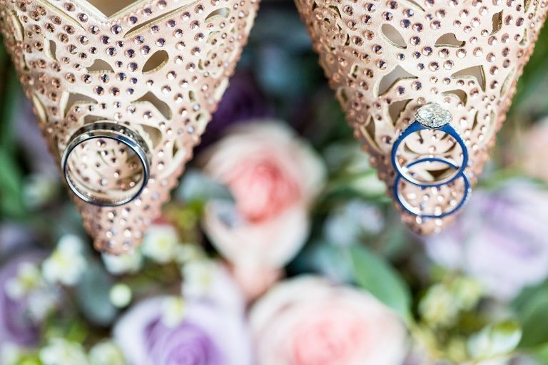betsey johnson, wedding shoes, wedding rings, details