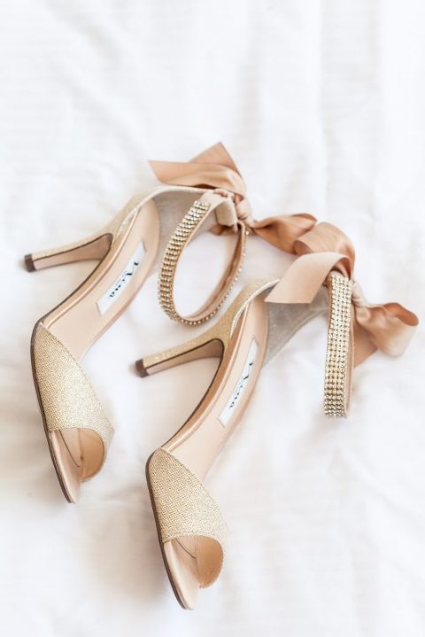 Nina, gold heels, wedding shoes, ribbon wedding shoes, bridal details